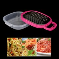 carrot grater - Stainless Steel Multi functional Kitchen Cooking Tools Fruit Carrot Shredder Vegetable Slicer Grater Combined with Box H14863
