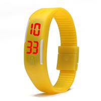 2015 de caucho de silicona de la nueva manera del deporte LED Relojes del color del caramelo de la pantalla táctil digital Relojes Electrónico, No-Impermeable pulsera Reloj de pulsera