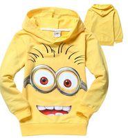 children cotton hoodies - New children t shirts despicable me boys minion t shirt girls nova T Shirt kids hoodies Autume Spring Tops Tees