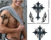 big cross tattoos - new arrived Waterproof tattoo sticker male big black cross cm extra large