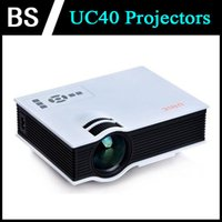 Wholesale 2015 Cheap UC40 Mini Projectors LCD LED Projectors Portable Proyector VGA HDMI Projector For Video Games Home Theater Beamer Multimedia