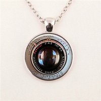 achromat lens - CAMERA PENDANT Vintage Achromat Lens Black White Photography Camera Gift for him Photographer Not An Actual Lens pendant glass necklace