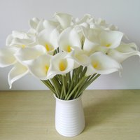 Wholesale DES FLORAL Decorative flower Artificial Mini Calla Lily Bouquet For Wedding Decoration Artifical Flowers Calla lily bouquet for wedding