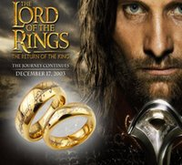 Wholesale Hobbit And Lord Of The Rings necklace Gold Plated Of The Ring Vintage Jewelry For Men and women