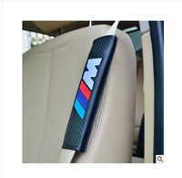 acura tech - Interior Accessories Seat Belts Padding pairs X M tech Power Emblem Black Carbon fiber Lorinser Seat Belt Shoulder Pads Motor Sport Free