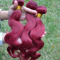 Wholesale brazilian body wave human hair weaves remy human hair extensions BURG j fast shipping