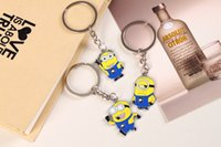 anchor keychain - Despicable Me Keychains Cartoon Key Chain Despicable Me D Eye Small Minions Figures Kids toy Keychain High quality