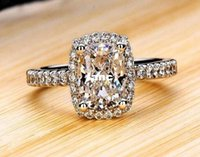 Wholesale Show elegant temperament Jewelry Womens White Sapphire Silver Filled Wedding Ring
