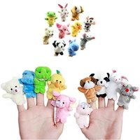 Wholesale 10pcs Velvet Finger Animal Puppet Play Learn Story Toy Cute Cartoon Finger Puppets Sale ODW