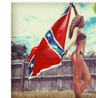 Wholesale 2015 New USA Confederate Rebel Civil War Flag National Polyester Flag Banner Printed Flag X3FT D