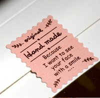 Wholesale 1200pcs DIY Pink color hand made food package sealing stickers gift package sealing stickers x2 cm