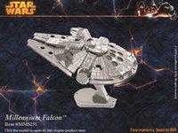 Wholesale DIY D Models Metallic Nano Puzzle star wars darth vader aircraft no glue required For kids adult Christmas gift set