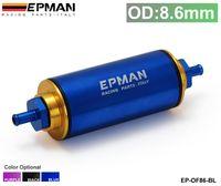 Wholesale Epman Fuel Filter Racing Blue black Purple OD MM Hi Flow Motorsport Rally Racing Alloy Fuel Filter With Steel filter EP OF86