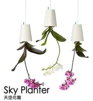 Wholesale Home Depot Sky Planter Plastic Garden Hanging Flower Baskets Pots for Home Shop Decoration