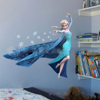 Wholesale Queen Elsa Frozen D Wall Stickers Olaf Decorative Wall Decal Cartoon Wallpaper Kids Frozen Decoration Christmas Wall art sticker