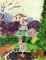 One Panel artist canvas for sale - Henri Matisse Paintings for sale The Artist s Garden at Issy les Moulineaux Canvas Art Reproduction High Quality Handmade