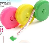 Wholesale mix color Plastic Clothes tape measure Tape Measures Home tool clothing size Soft feet Automatic retractable mix color