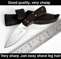 Wholesale 2015 The new Ebony multi functional outdoor knife Browning mini camping small fixed blade knife edc tool army knife Freeshipping