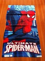batman robe - 50pcs Towel Batman cotton towels bathroom children beach towel kids bath Hulk towel
