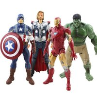 Wholesale 2015 the new avengers alliance Iron man the incredible hulk thor captain America Can boy toys licensed moving pair model