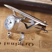 airplane desk clock - New Arrival Antique Airplane Shape Table Clock Creative Stylish Quartz Movement Elegant Desk And Table Clock Gifts For Friend