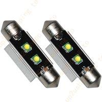 2 x haute puissance 41MM-42MM 3535 2 SMD Blanc Dome Festoon LED Carte Ampoule 211-2 pour la livraison gratuite