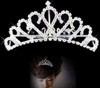 Wholesale Silver Fashion Wedding Bridal Accessories Hair Pieces Accessories Bride Crown Tiaras