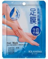 Wholesale Foot Mask For Feet Peeling Tendering Dead Skin Exfoliator Remover Baby Milk Bamboo Vinegar Peeling Feet Mask