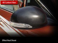 Wholesale 2015 New cm D D Carbon Fiber Vinyl Film M Car Sticker Waterproof DIY Car Styling Wrap With Retail packaging