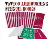 airbrush makeup books - 3 Books Golden Phoenix Tattoo Stencils For Temporary Airbrush Tattoo Makeup Spray Body Paint