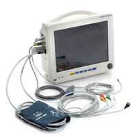 Wholesale 12 inch parameter ECG NIBP SPO2 TEMP RESP PR Rechargeable Lithium battery Multi language Patient Monitor