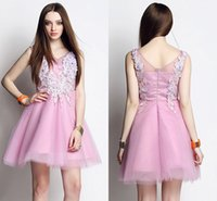 ball stretching pictures - Princess Gown Cool Style Homecoming Dresses V Neck Applique Backless Ball Gown Stretch Satin And Tulle Sleeveless Prom Party Cocktail Gowns