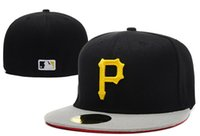 active pittsburgh - MLB Embroidered Pittsburgh Pirates Baseball cap Fitted cap for men women Hat with sun protection wicks away sweat