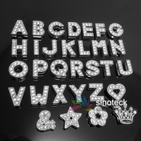 Wholesale Pet Dog Crystal Block Slide Letter A To Z Personalized DIY Name Slide Letters For Dog Cat Collars Supplies Cartoon mm Free E packet