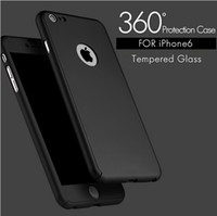 Wholesale Luxury Derece Full Body Protection Cover Case With Tempered Glass For iPhone s Plus S Logo Circle