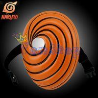 Wholesale Anime Naruto Akatsuki Ninja Uchiha Obito Tobi Madara Deluxe Edition Mask Halloween Cosplay Resin Masks Costume Props Collection