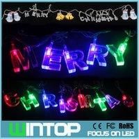 Wholesale M LED AC110V V Colorful Merry Christmas LED String Light Jingle Bell Snowman Holiday Lights for Party Wedding Decoration