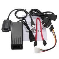 Nueva llegada !!! adaptador de la fuente de alimentación de unidad duro estándar de la UE del USB 2.0 a SATA / IDE convertidor de cable más bajo precio