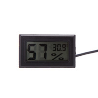 Wholesale LCD Digital Mini Thermometer Humidity Tester Electronic New Hygrometer Temp Gauge Temperature Meter Monitor HOT SALE