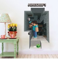 Wholesale 50 CM Cartoon D Minecraft Wall Stickers Decorative Wall Decal Kids Room Party Decoration Home Decal Decorations