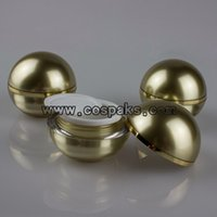 ball retail buy - Retail ml Gold Cosmetic Container in ball shape buy ball jars acrylic g cheap ball jars