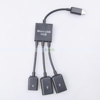 Cheap Micro USB Hub 3 Port to 1 OTG Hub Cable Adapter Converter Extender for Micro-USB OTG Function Phone