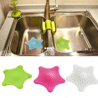 Wholesale Hot Sale Vogue Cute Starfish Floor Drain Hair Stopper Bath Catcher Sink Strainer Sewer Filter Shower Cover Colors