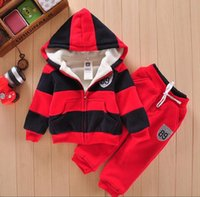 baby girls sherpa jacket - 2016 baby sports suit jacket sweater coat pants thicken kids clothes set Hot sell boys girls children winter wool sherpa