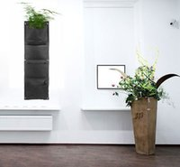 Wholesale Recycle Felt Pocket Planting Bag Outdoor Vertical Garden Hanging Planter Wall Herbs Strawberry