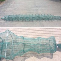 net fishing equipment - 3 meter Layers Knot Mesh Collapsible Fishing Net Cage Fish Trap Shrimp Crab Cage Fishing Tool Equipment order lt no track