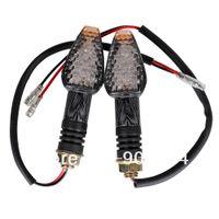 Wholesale 2pcs LED Amber Motorcycle Turn Signal Indicator Light Blinker