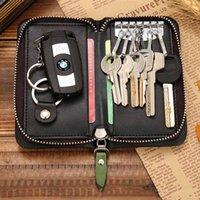 Wholesale New Arrival Men Women Leather Zipper Car Key Holder Bag Multifunction Coin Purse Card Package Fashion Cards Wallets Keys Case