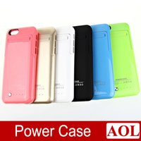 Wholesale New mAh External Battery Backup Charger Battery for iPhone6 Power Bank Case Pack Stand Case for apple iPhone G inch DHL free
