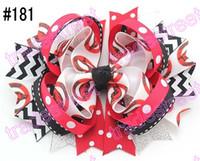 alabama ribbon - 30pcs ring hair bows layered hair bows college team ribbon NCAA girl big bows alabama hair bows C